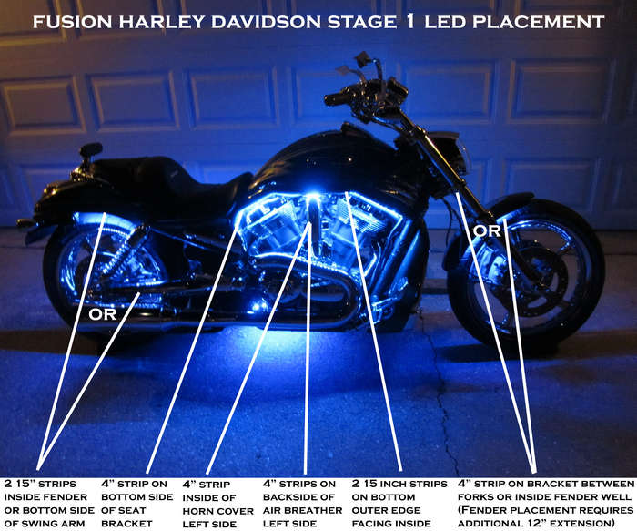 Harley Davidson Stage 1 Fusion LED Lighting Kit Customize That Ride