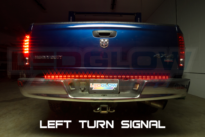 Ledglow 60 inch tailflex truck led tailgate light bar with reverse ledglow 60 inch tailflex truck led tailgate light bar aloadofball Gallery