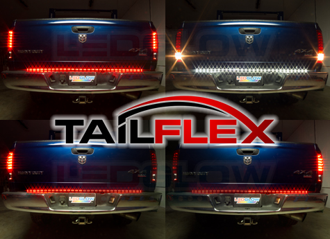 Tailgate led light bars clearance sale tailflex light bar with running break hazard turn signals and reverse 4799 aloadofball Images