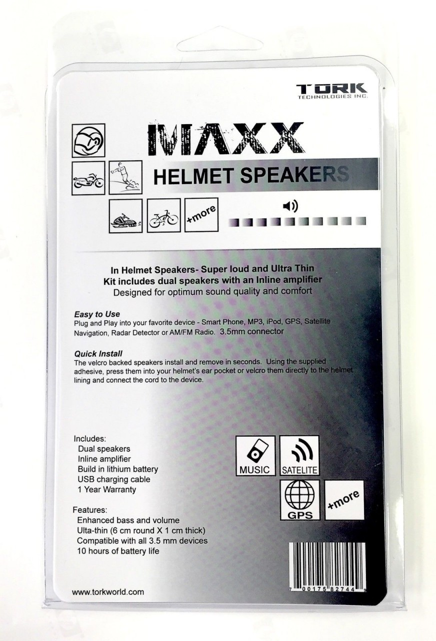 Tork Maxx Helmet Speakers With Integrated Headphone Amplifier This Simple Radar Detector Includes An Audio For Driving A
